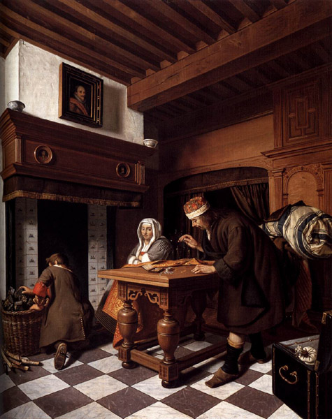 "Cornelis de Man ""Man Weighing Gold"" 1670, Private collection"