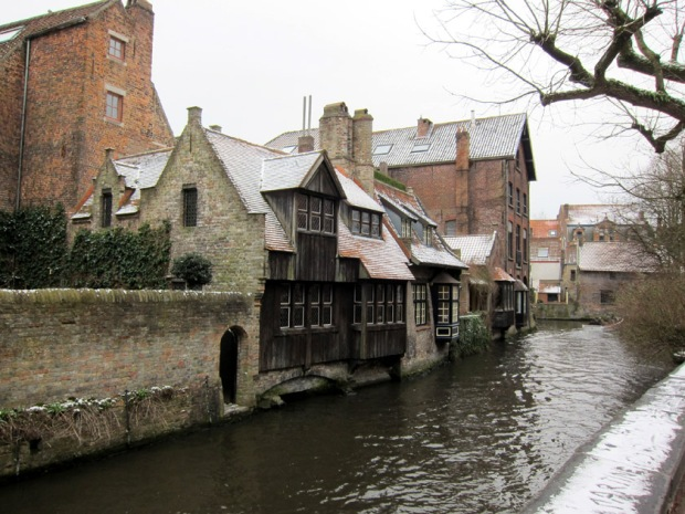 Bruges, Belgium in the Snow