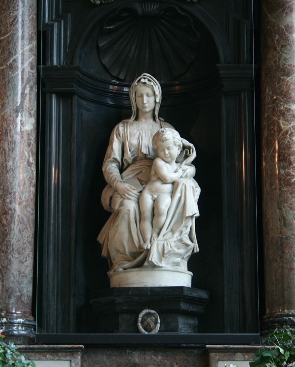 Michelangelo's Madonna of Bruges at the Church of Our Lady in Bruges