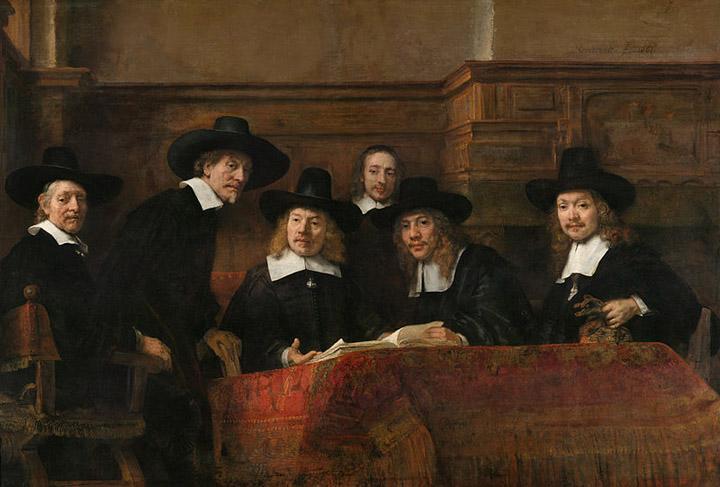 """Rembrandt, """"De Staalmeesters (The Sampling Officials)"""" 1662, Rijksmuseum Museum, Amsterdam"""