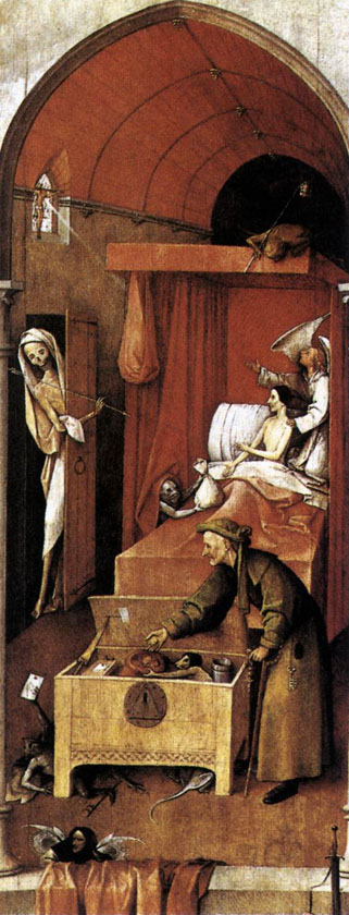 "Hieronymus Bosch - ""Death and the Miser"", National Gallery of Art, Washington, DC"
