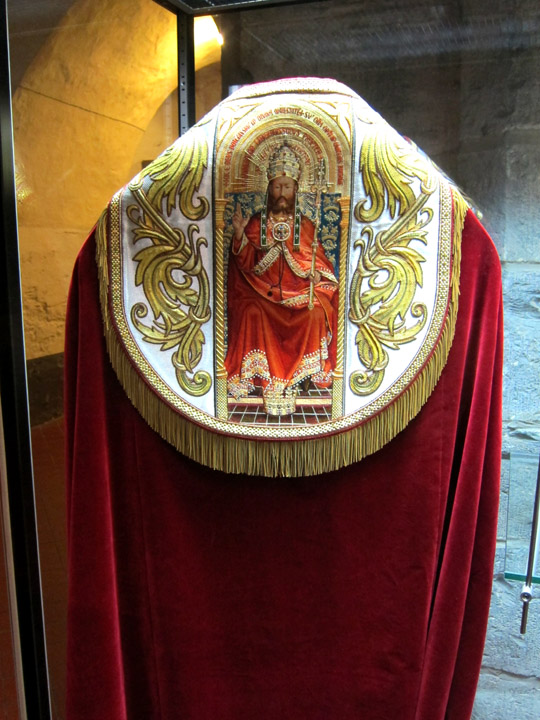 Ghent altarpiece liturgical vestments in the St. Bavo Cathedral treasury
