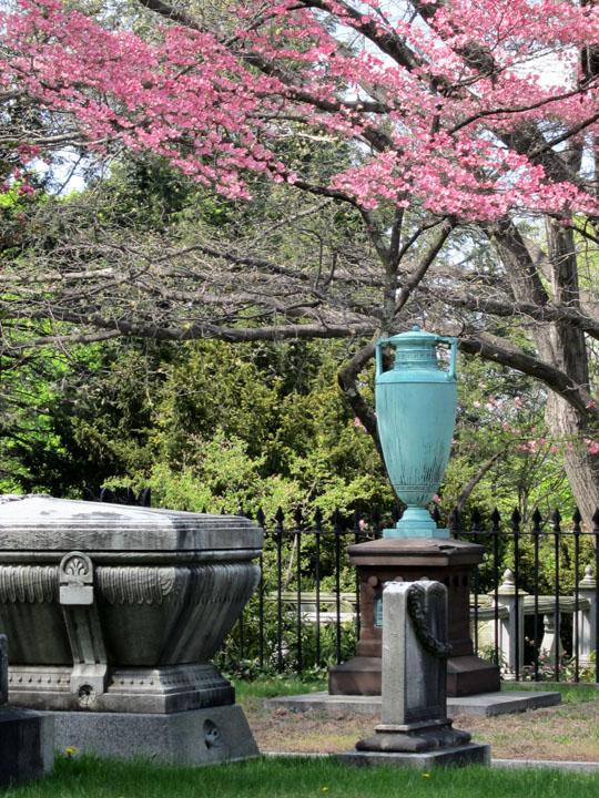 copper urn, Mt. Auburn Cemetery