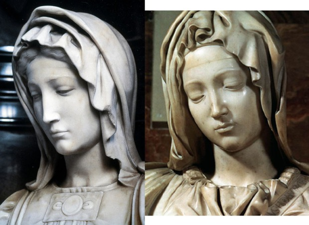 Michelangelo Madonna comparison