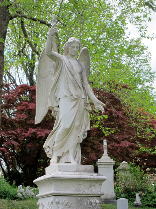 angel sentry, Mt. Auburn Cemetery