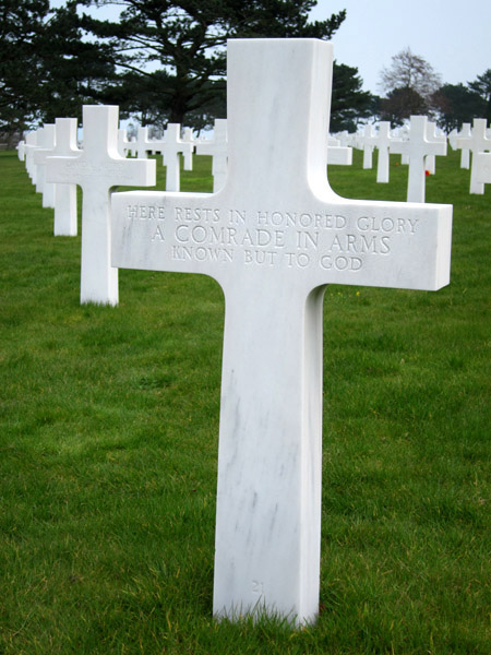 unknown grave, Normandy American Cemetary