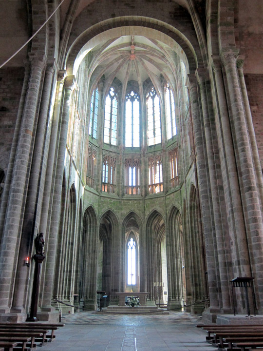 abbey church, Mont Saint Michel