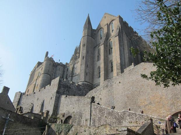 front facade, Mont Saint-Michel