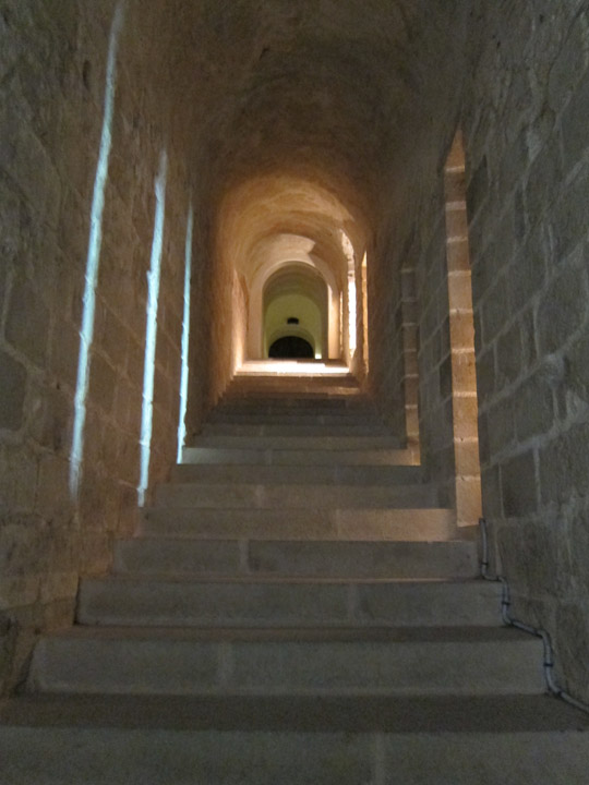 inside stairs, Mont Saint Michel