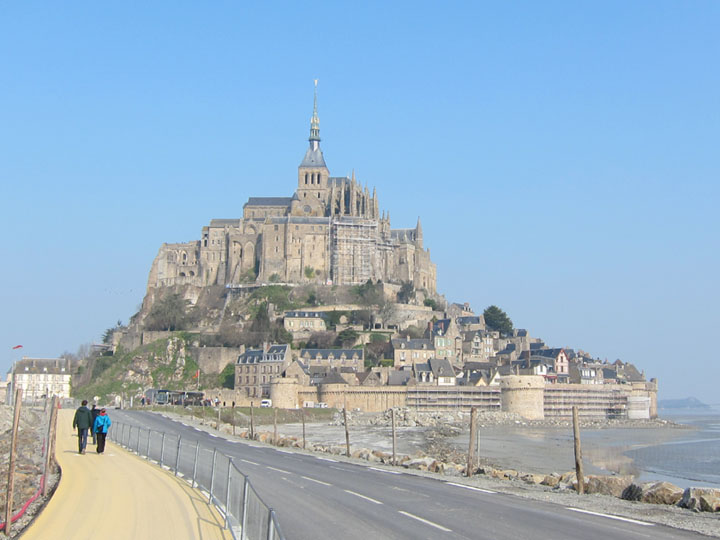 Mont Saint-Michel sunshine