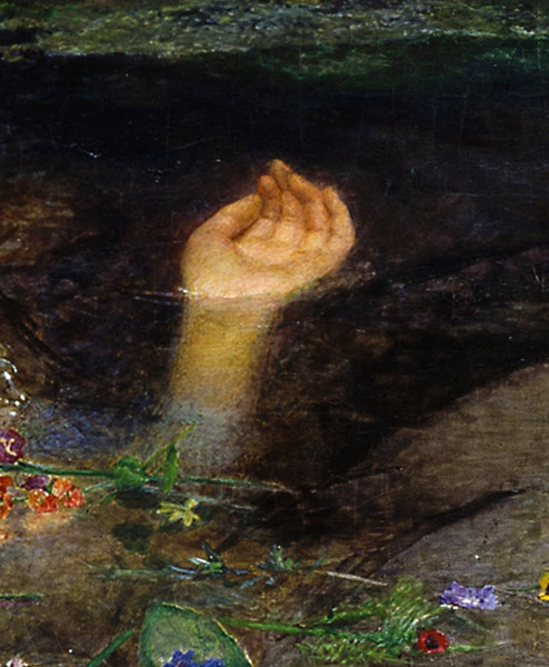 "John Everett Millais, ""Ophelia"" close-up, Tate Gallery, London"