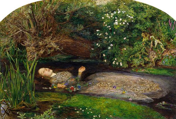 "John Everett Millais, ""Ophelia"", Tate Gallery, London"