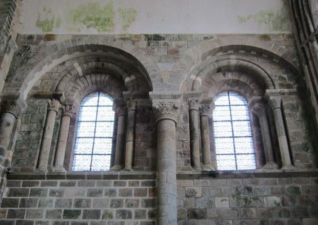romanesque abbey, monastery, Mont Saint Michel