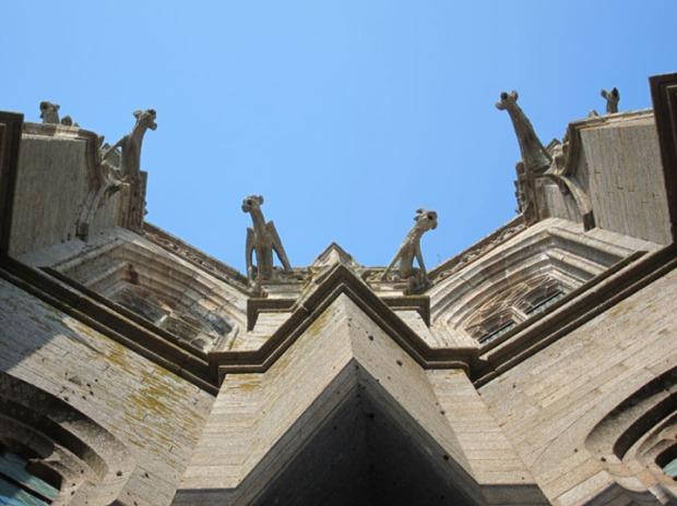 gargoyle spouts, Mont Saint-Michel