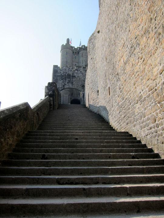 stairs, Mont Saint-Michel