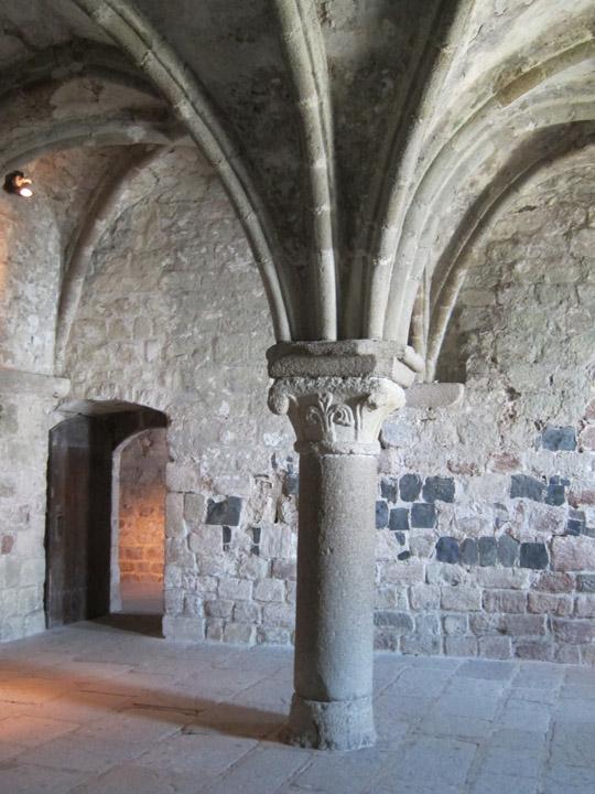 storage area, monastery, Mont Saint Michel