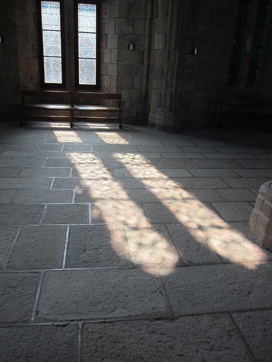 sunlight, Monastery, Mont Saint Michel