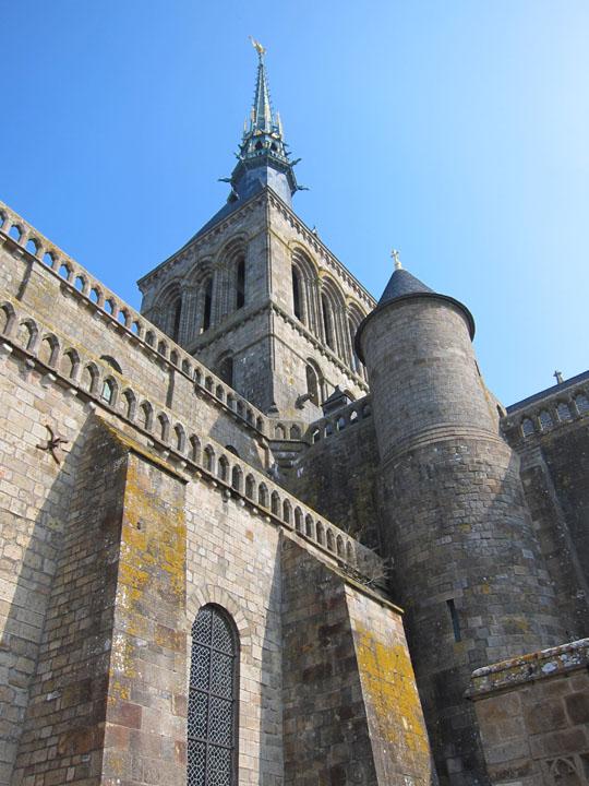 tower wall, Mont Saint-Michel