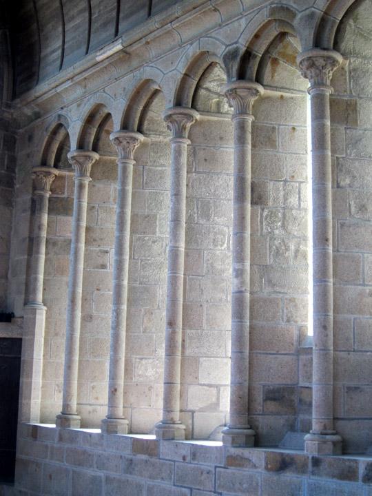 window frames, Mont Saint Michel