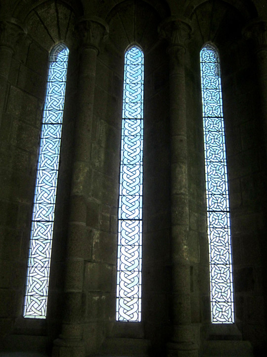 window frames, Mont Saint Michel