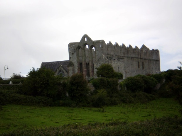Coming up on Ardfert Cathedral, County Kerry, Ireland