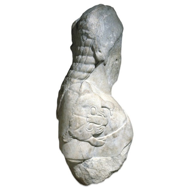 Temple of Artemix, archaic man sculpture