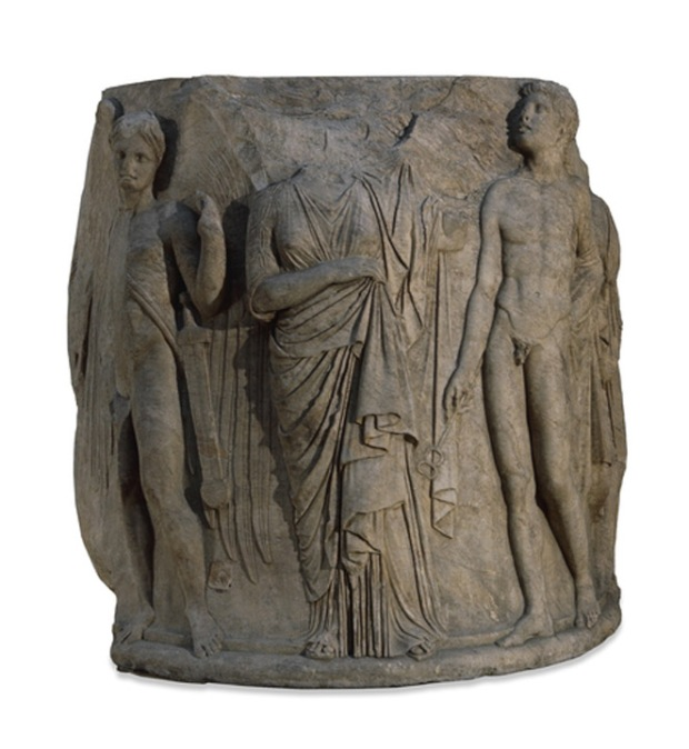 Temple of Artemis, Ephesus carved marble column drum