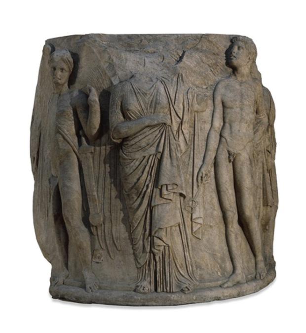 Temple of Artemis, Ephesus carved marble column drum