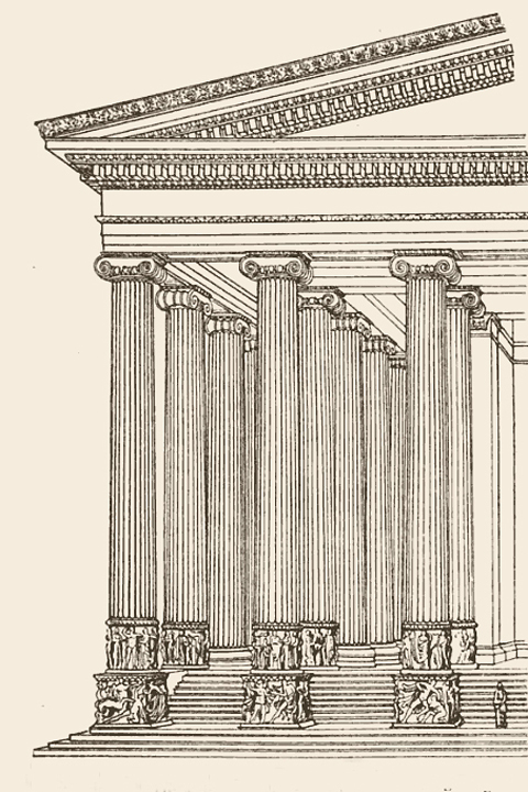 Temple of Artemis, Ephesus decorative scheme