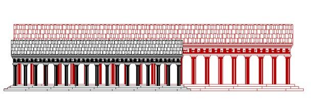 Artemis vs Parthenon size scale