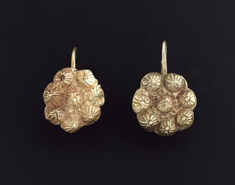 gold Roman earrings