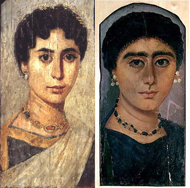 Fayum mummy portraits from Ptolemaic Egypt