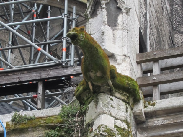 gargoyle, Church of Saint-Maclou, Rouen, France