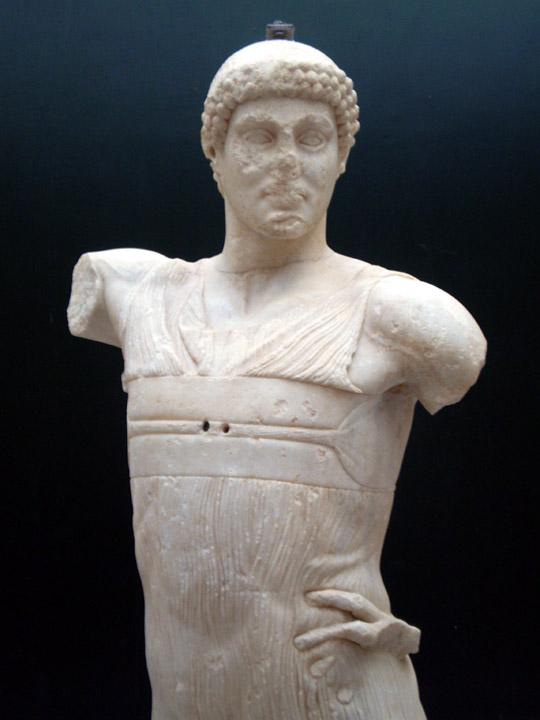 The God of Mozia statue