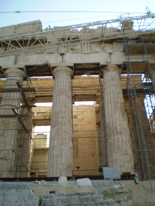 parthenon construction