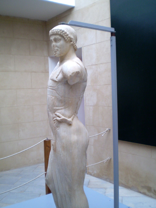 Side view of the God of Mozia
