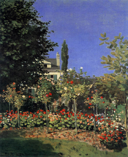 Claude Monet - Garden in Bloom in Sainte-Adresse