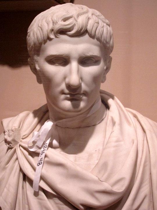 Augustus Roman portrait bust, Cincinnati Art Museum