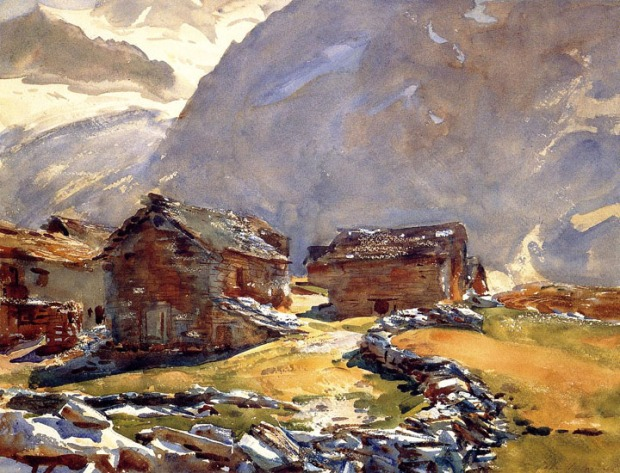 John Singer Sargent - Simplon Pass: Chalets