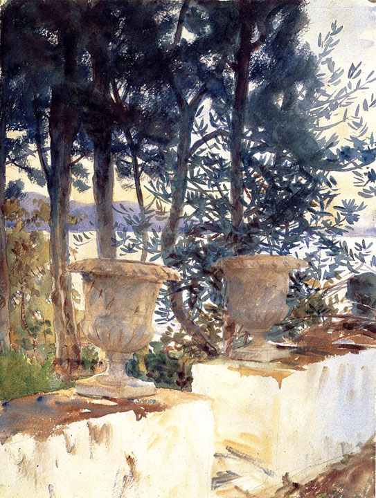 John Singer Sargent - Corfu: The Terrace