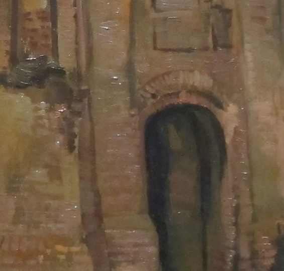 """Vincent van Gogh """"The Old Church Tower at Nuenen (The Peasants' Counrtyard)"""" detail"""