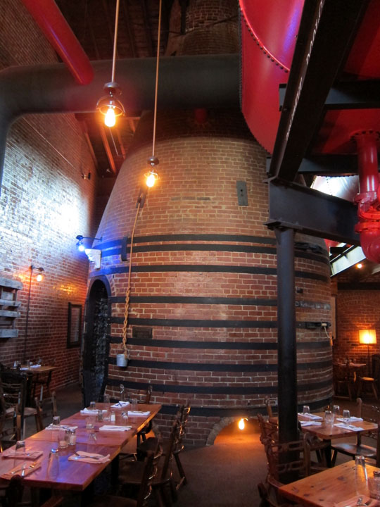 A kiln in the dining room of the Rookwood Bar & Restaurant.