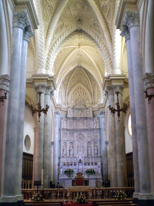 Nave of Chiesa Matrice (Mother Church), Erice, Italy