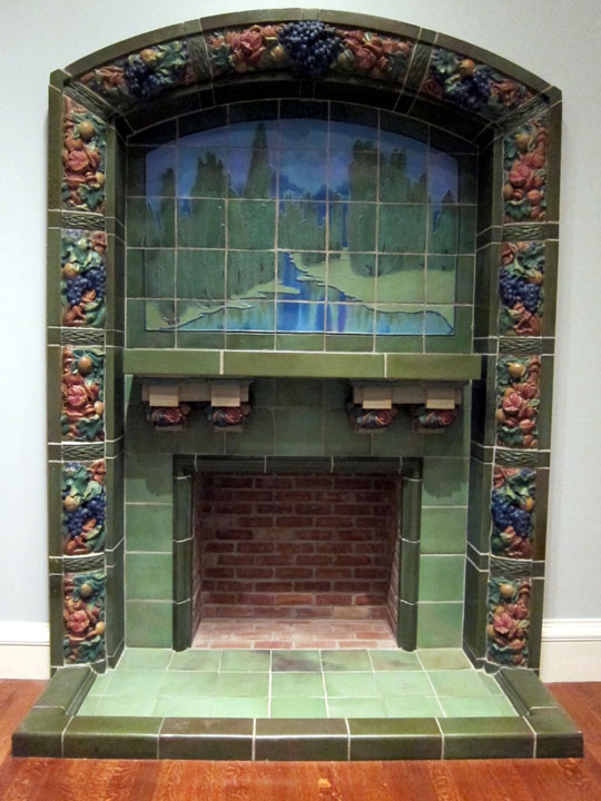Rookwood arts and crafts fireplace