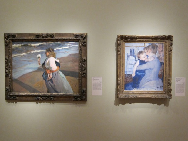 Impressionist mother and child paintings