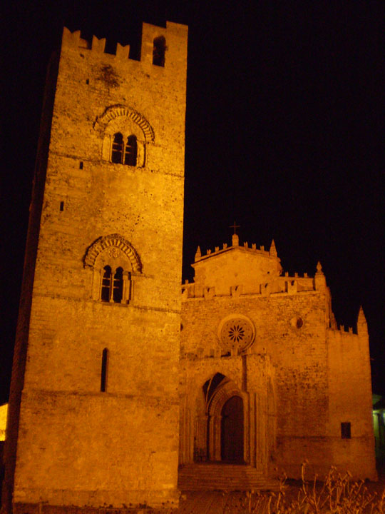 Chiesa Matrice (Mother Church) at night, Erice, Sicily