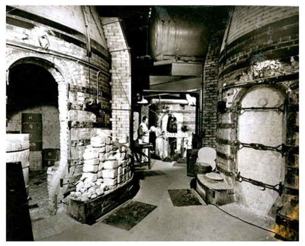 historic interior photo of Rookwood pottery