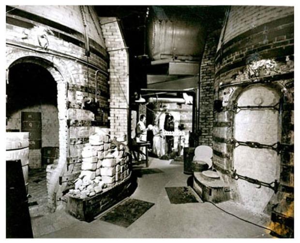 historic interior photo of Rookwood pottery