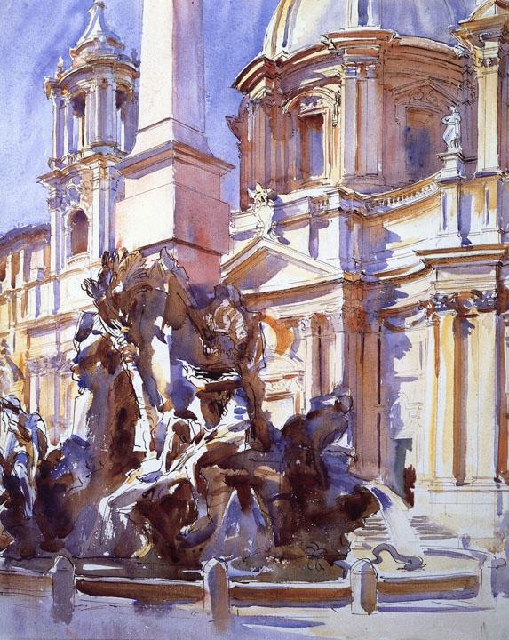 John Singer Sargent - Piazza Navona, Roma