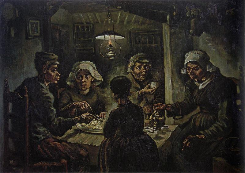 "Vincent van Gogh's famous image of peasant life ""De Aardappeleters (The Potato Eaters)"" (Van Gogh Museum, Amsterdam)"